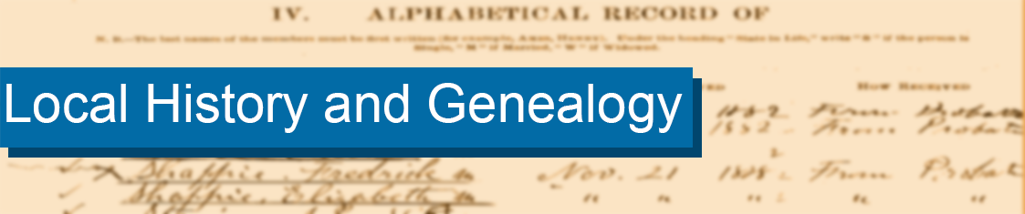 Return to Local History and Genealogy